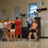 Students dance in the cafeteria on August 22.