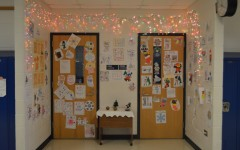Teacher's deck out their doors with holiday decorations