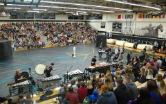 KHS drum line performs at winter assembly