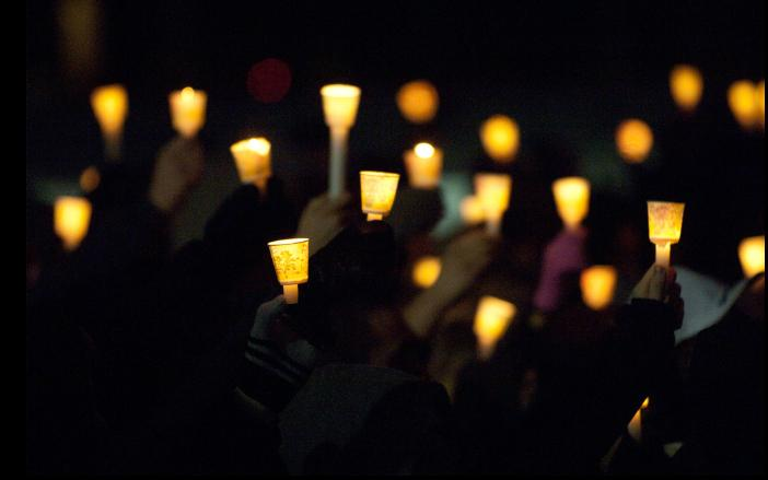 A candlelight vigil was held to remember the victims on the one-year anniversary of the shooting. Photo courtesy NIU.