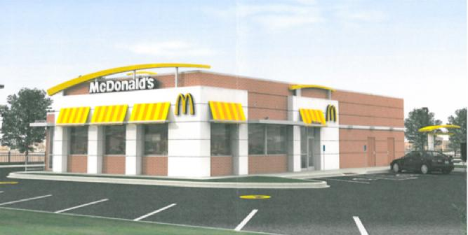 A computer rendering of the proposed Sugar Grove McDonald's.