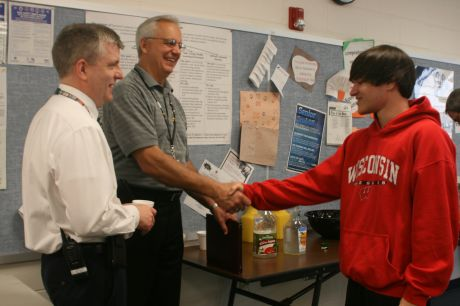 Steven Krafft approached Assistant Principal Ian Smith and Principal Greg Fantozzi at the end of the banquet.