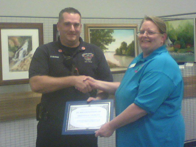 Beverly Holmes Hughes, shown here in a photo from the Friends of the Sugar Grove Library, was named Sugar Grove's Citizen of the Year in 2011.