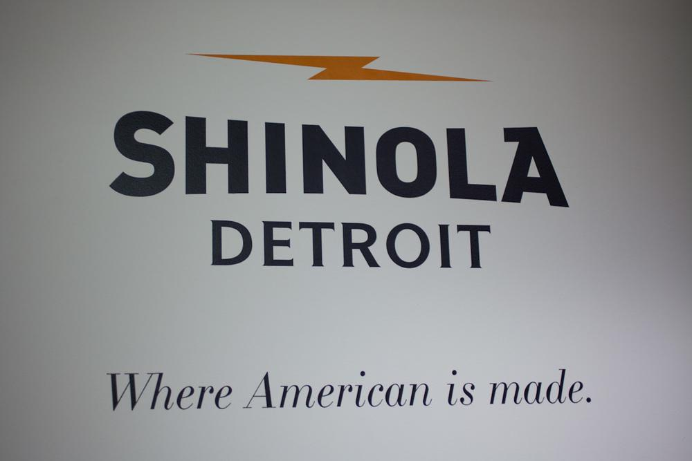 Shinola products, made in Detroit.