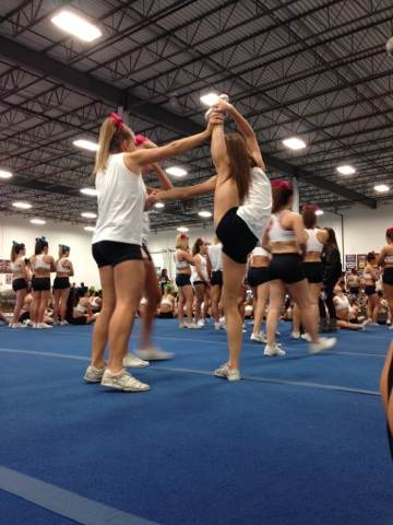 Nicole Sreenan in action during practice.