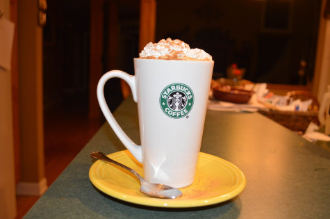 Making a pumpkin spice latte at home