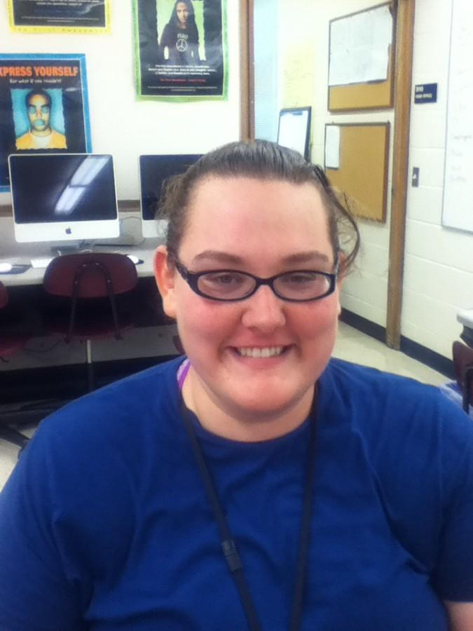 New staff member Jessica McHenry.