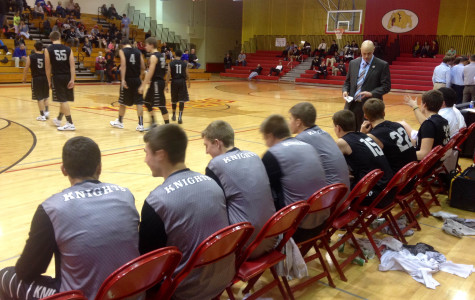 Kaneland gears up for the second half at the Ken Peddy Windmill City Classic against St. Francis.