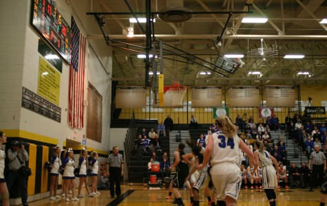 The girls basketball team continued to push for a win against St. Edward.