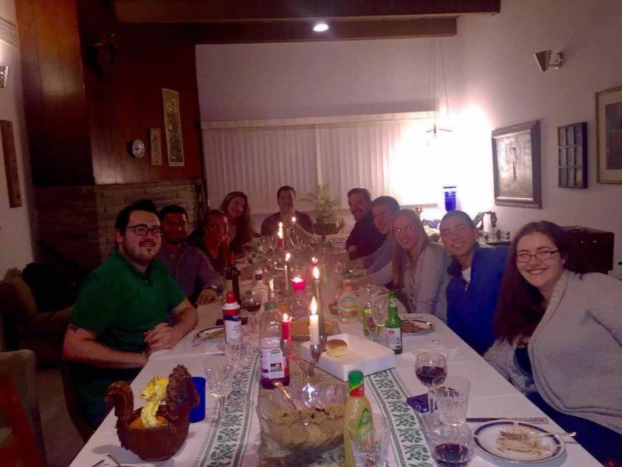 English teacher and tennis coach Mallory Stoffregen enjoys a holiday feast with her family.