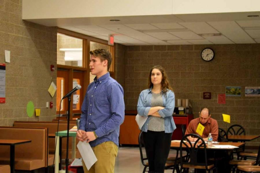 Seniors Mitchell Green and Bailey Crimmins express their concerns