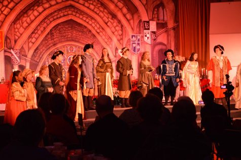 The Madrigals perform at the annual Madrigal dinner and sing traditional songs.
