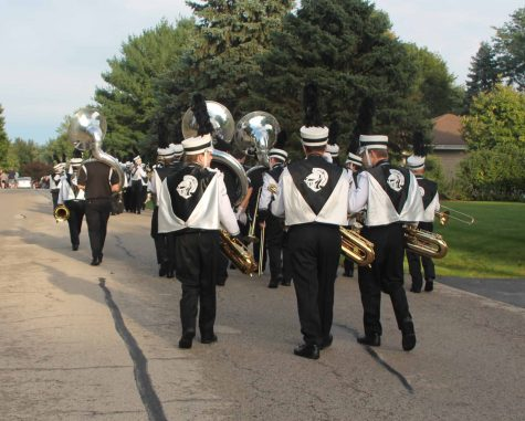 The band gets ready to start the parade.