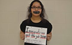Rise up, wise up, eyes up: Student takes a stand for immigrants