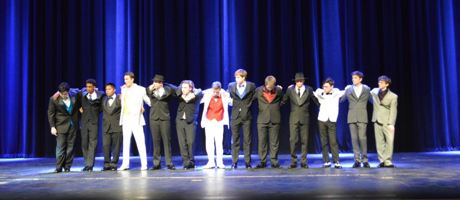 After an evening of  surprising performances, Nathan Maras is crowned Mr. Kaneland 2017. Bryan Zollinger as first runner up and Josh Herrero as second runner up.