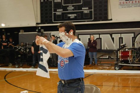 Kenneth Dentino pied in the face for charity