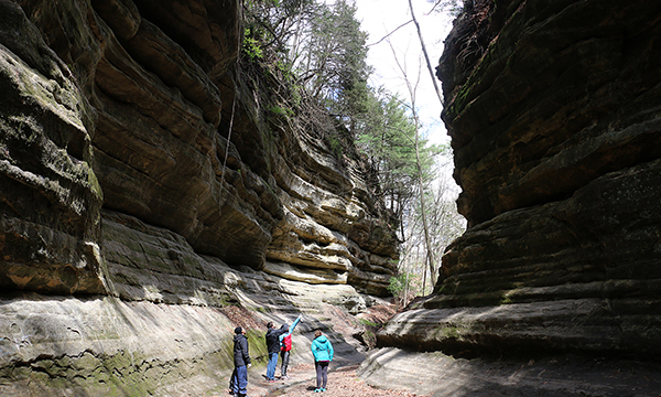 Starved Rock has many hiking trails along with beautiful waterfalls. It would be a perfect place to go if you like nature.