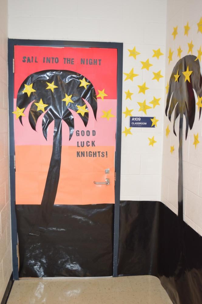 Teachers are also given the opportunity to compete by decorating their doors.