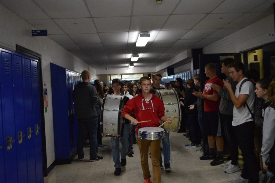 Kaneland Golf and Tennis Teams paraded through the halls Wednesday for the walk of champions as they are headed to state.