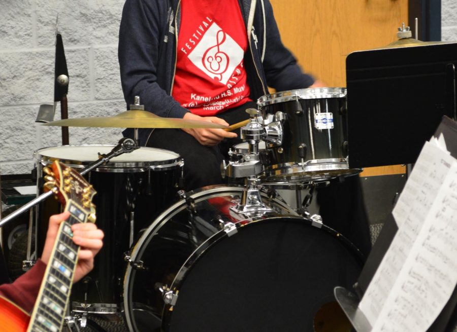 Indoor Marching Concert Honors Band Students