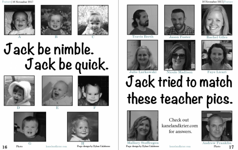 Teacher/Baby Matching Answers: November Issue
