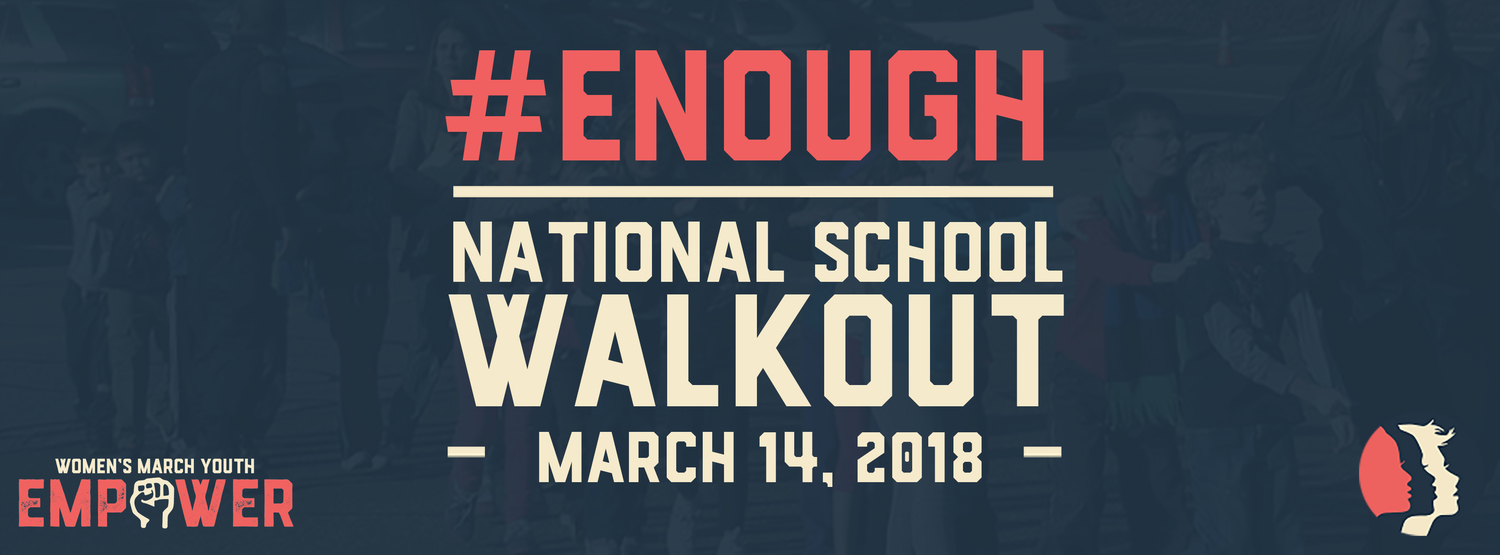 The first of the school walkouts will take place on March 14 at 10 a.m.