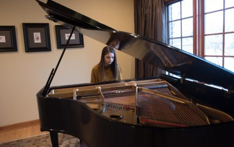 Beattie practicing a song on a sunny day. She has performed for the last 6 years at a concert called American Grands.