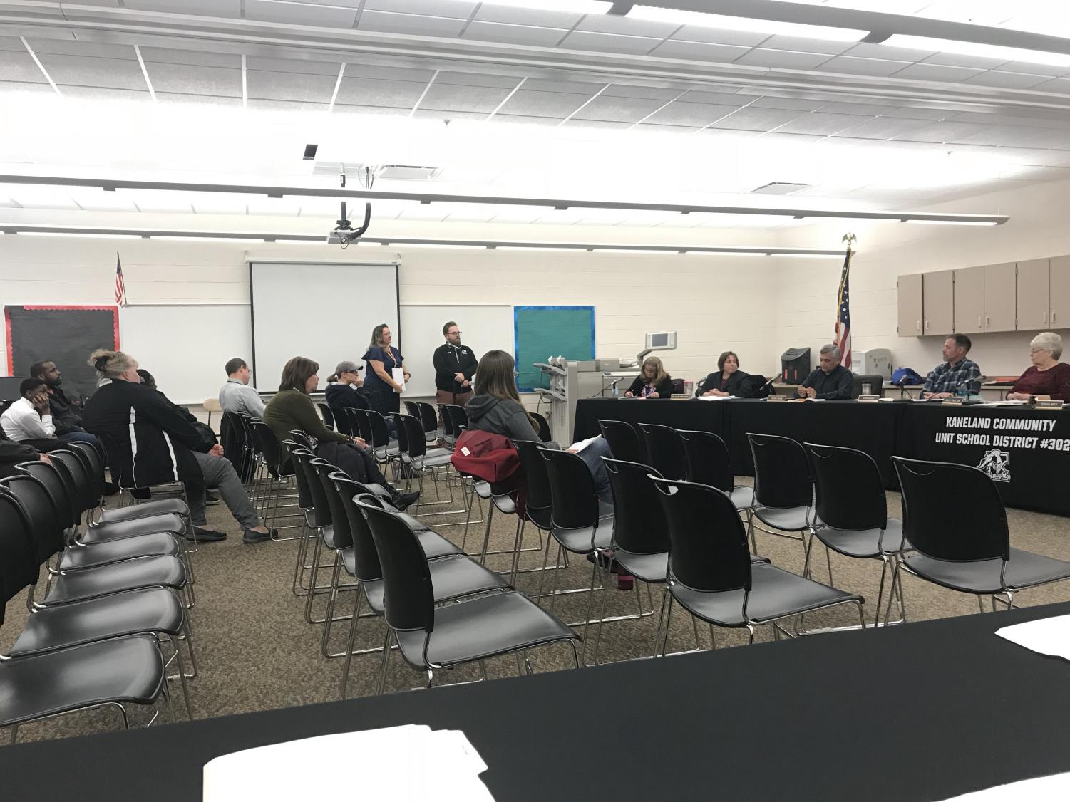 Illinois State Scholarship recipients were honored and a new map was introduced to help teachers plan their lessons at the board meeting on February 26.