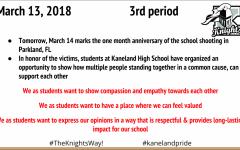 How Kaneland has addressed school walkouts
