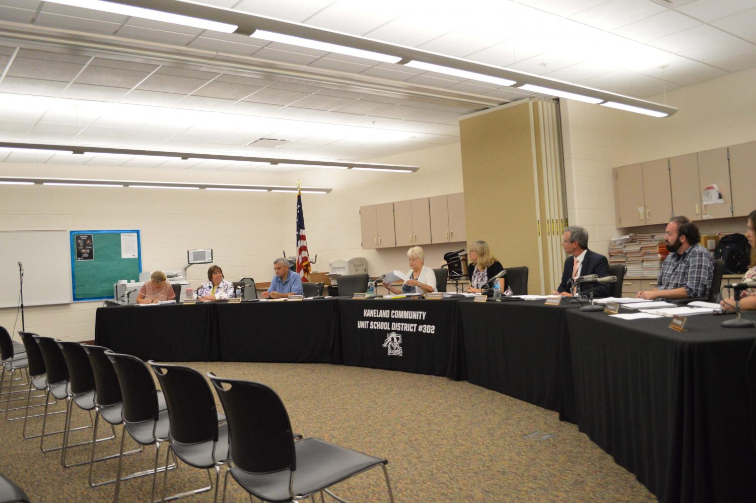 The board discusses recent changes being made to the East gym.