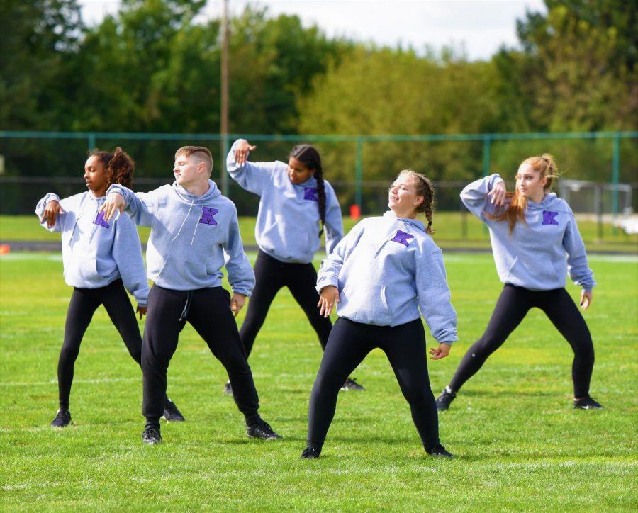 Kaneland%27s+dance+team+kicks+off+the+assembly+with+a+hip+hop+performance.+