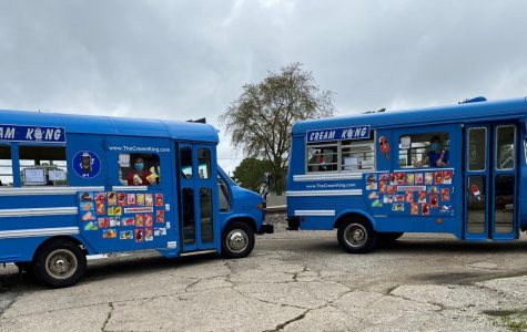 Cream King owner Nancy Crowe prepares to begin her day's work of selling ice cream to excited children in our local communities. Crowe finally started her old ice cream routes after a delay due to COVID-19.