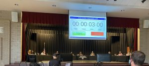 The District 302 Board of Education held their regularly scheduled meeting on Monday, July 26, at Harter Middle School. A large audience was in attendance, with community members primarily concerned with the health and safety guidance for this upcoming school year.